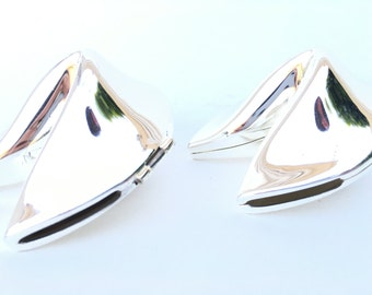 Prosperity Silver Fortune Cookie Pair