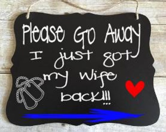No Soliciting Sign - No Solicitation Sign - Go Away Sign - Military No Soliciting - Post Deployment Gift - Military Spouse Gift - Army Gift
