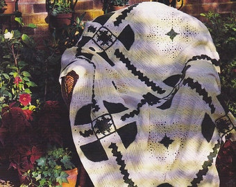 Vintage Crochet PATTERN Luck of the Irish Afghan INSTRUCTIONS 1024