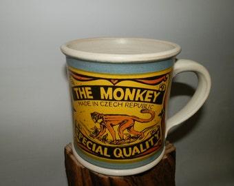 Handmde Cofee/Tea Ceramic mug - The Monkey - Special Quality