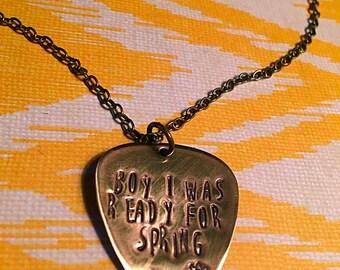 Spring Guitar Pick Necklace
