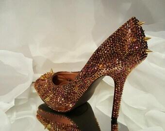 Rhibestone & spike heels
