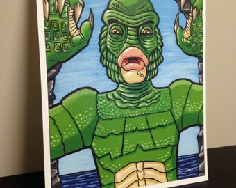 """8"""" x 10"""" Creature from the Black Lagoon Print FREE SHIPPING!"""