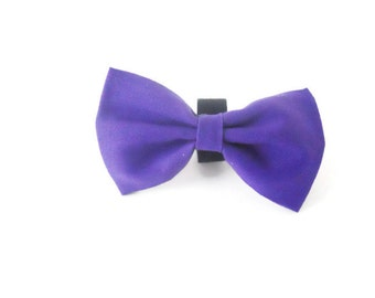 purple dog bow tie, violet bow tie, purple bow, wedding bow