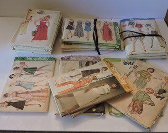 Vintage Sewing Patterns Lot Simplicity Vogue McCall Let's Sew Anne Adams 1970s