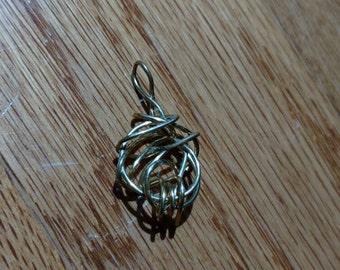 Tangled Wire Web Pendant