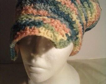 my multi color cozy hat