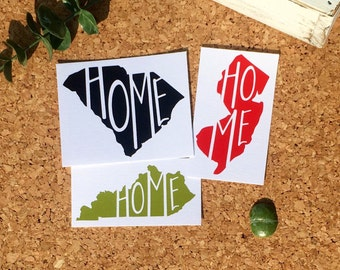 Free Shipping* Home Heart State Decal