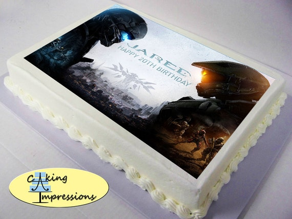 Halo 5 Edible Image Cake Topper by CakingImpressions on Etsy