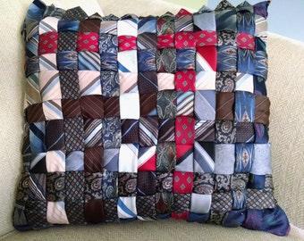 Silk Necktie Pillow