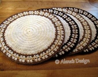 Crochet Placemat Pattern 166 DIY Placemat Crochet Pattern Intricate Banded Placemat Crochet Patterns Round Placemat Home Decor Patterns