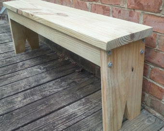 Farmhouse Style Bench - Dining Bench Porch Bench Entryway Bench Kitchen Bench Mudroom Bench Living Room Bench