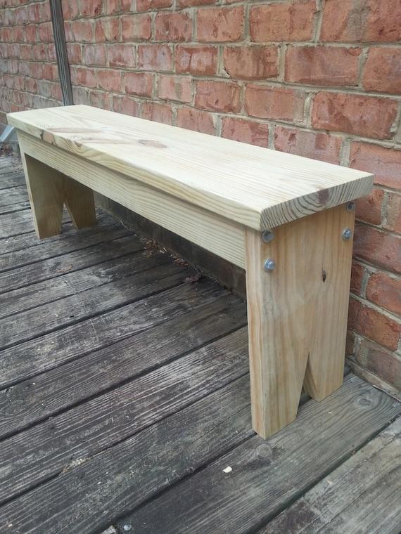 Farmhouse Foyer Bench : Farmhouse style bench dining porch entryway