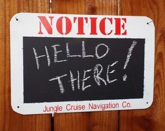 Disney Inspired Jungle Cruise Chalk Board Sign.