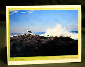 "Set of 3 All Occasion Photo cards ""Monterey Beach life"""