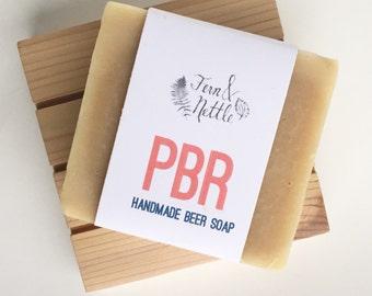 Pabst Blue Ribbon Beer Soap