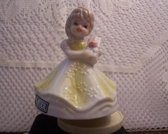 Musical Rotating Birthday Girl Figurine