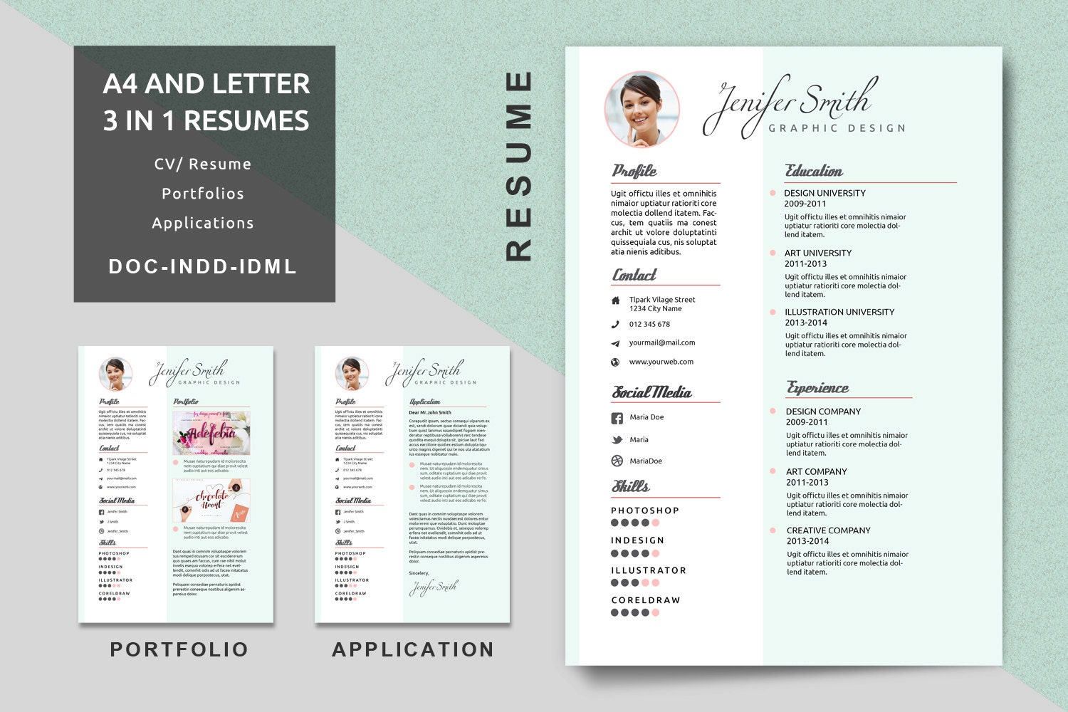 zoom - Resume Portfolio Template