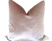 Faux Silk Velvet // Smokey Lavender Pillow COVER ONLY