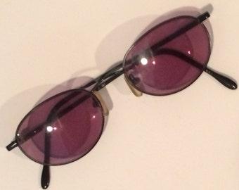 black oval wire frame glasses 1980s glass frames metal glass frames price reduced - Wire Framed Glasses