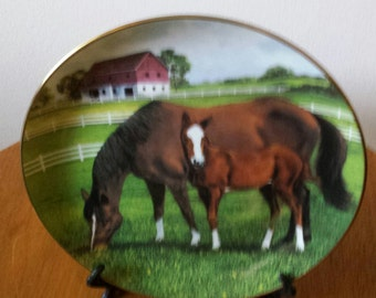Morning On The Farm Limited Edition Plate
