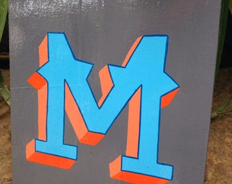 Letter M - Hand Painted Alphabet Sign