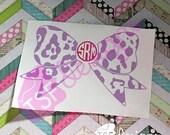 Leopard Monogram Bow w/ M...