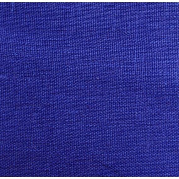 Plain Cobalt Linen Fabric- Cobalt Blue Decor- Blue Home
