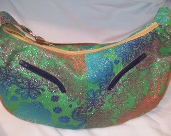 Large Slouchy Hobo Bag, Shamrock Purse, Sling Bag, Irish Hobo Bag, Shamrock Bag, St Pattys Day Bag, Zippered Purse, Swoon Patterns