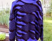 Vintage 1980s-1990s stylish sweater, size medium to large