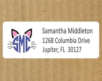 Cat address labels | Etsy