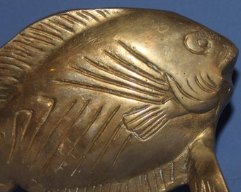 Hand Made Solid Brass Fish Statuette
