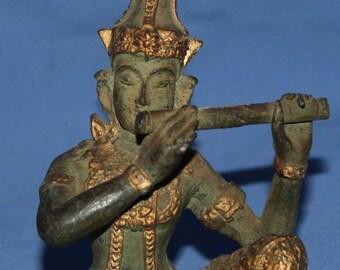 Hand Made Bronze Hindu Deity Krishna Statuette