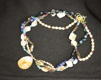 blister pearl pendant necklace