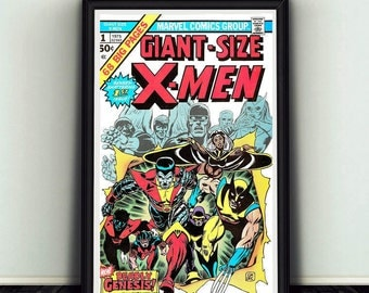 11x17 Giant Sized X-Men #1 Comic Book Cover Poster Print