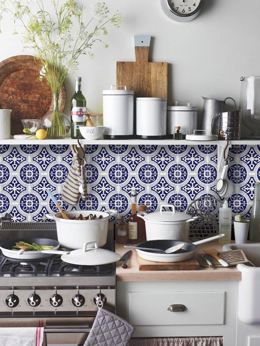 Kitchen Tile Decals Stickers Mexican Tile Decal Etsy