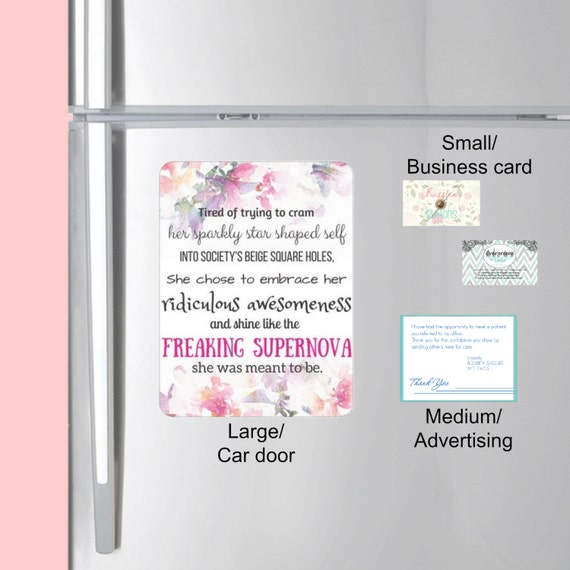 SMALL Business Card Magnets Custom Business magnets Your