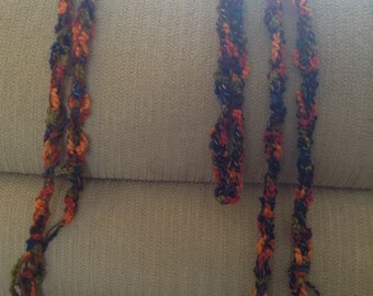 WrapAround Belt and Scarf set, knitted