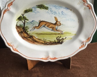 Hare Ceramic Wall Plate * ceramic plate with Hare