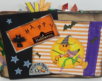 Halloween Brown Paper Bag Journal Scrapbook