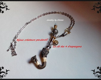 Jewelry designer pendant. The key to the aspargone 4