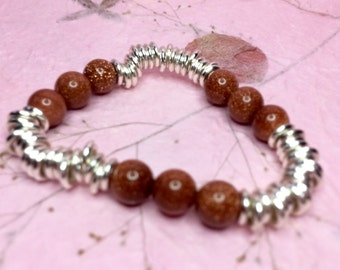 Links of London Inspired Goldstone Healing Sweetie Style Bracelet