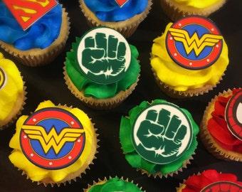 Super Hero Cupcake Toppers (12)