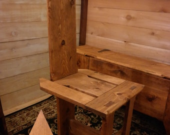 SCA Medieval Wooden Breakdown Camping Chair. (Irish Tuam)
