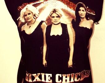 Custom Vintage Distressed Dixie Chicks Tshirt With Swarovski Detail