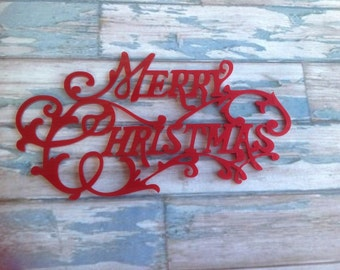 Acrylic laser cut merry christmas sign plaque  word embellishment