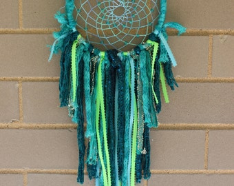 Handmade Dreamcatcher - Teal, Green, Turquoise - Urban Outfitters, Free People