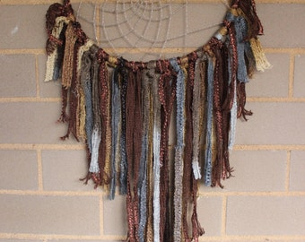 Handmade Dreamcatcher - Gold, Brown, Gray - Urban Outfitters, Free People