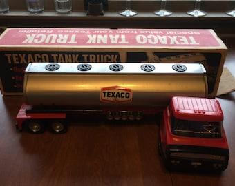 1970's Texaco Tank Truck In Original Box