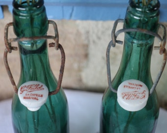 2x original French Vintage Lemonade Bottles  dating from 1930's. Good overall vintage condition.